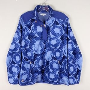 adidas | Blue Print Soft Fleece Zip Sweatshirt
